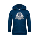 Youth Navy Fleece Hoodie-2017 ASUN Conference Womens Golf Champions Back To Back