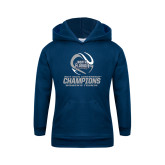 Youth Navy Fleece Hoodie-2017 ASUN Conference Womens Tennis Champions