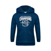 Youth Navy Fleece Hoodie-2017 ASUN Conference Womens Tennis Champions Back To Back