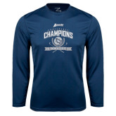 Performance Navy Longsleeve Shirt-2016 Atlantic Sun Conference Champions Womens Golf