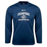 Performance Navy Longsleeve Shirt-2016 Atlantic Sun Conference Champions Womens Golf