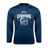 Performance Navy Longsleeve Shirt-2016 Atlantic Sun Conference Champions Mens Tennis