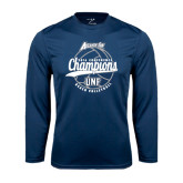 Performance Navy Longsleeve Shirt-2016 Atlantic Sun Conference Champions Beach Volleyball