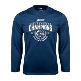 Syntrel Performance Navy Longsleeve Shirt-2016 Atlantic Sun Conference Champions Womens Tennis