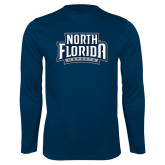 Performance Navy Longsleeve Shirt-North Florida Ospreys