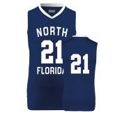 Replica Navy Adult Basketball Jersey-#21