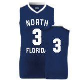 Replica Navy Adult Basketball Jersey-#3