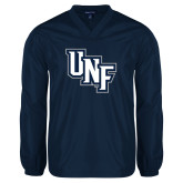 V Neck Navy Raglan Windshirt-Diagonal UNF Monogram