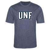 Performance Navy Heather Contender Tee-UNF Monogram