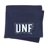 Navy Sweatshirt Blanket-UNF Monogram