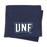 Navy Sweatshirt Blanket-UNF Monogram