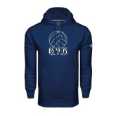 Under Armour Navy Performance Sweats Team Hoodie-Volleyball Stacked
