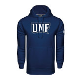 Under Armour Navy Performance Sweats Team Hoodie-UNF Monogram
