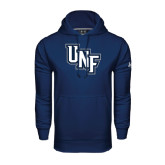 Under Armour Navy Performance Sweats Team Hoodie-Diagonal UNF Monogram