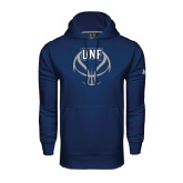Under Armour Navy Performance Sweats Team Hoodie-UNF Basketball