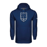 Under Armour Navy Performance Sweats Team Hoodie-Soccer Shield