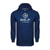 Under Armour Navy Performance Sweats Team Hoodie-Golf Stacked