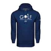 Under Armour Navy Performance Sweats Team Hoodie-Golf Type