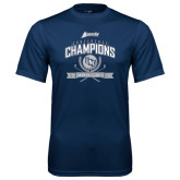 Performance Navy Tee-2016 Atlantic Sun Conference Champions Womens Golf