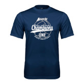 Performance Navy Tee-2016 Atlantic Sun Conference Champions Beach Volleyball