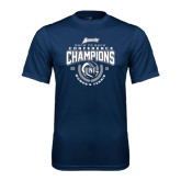 Performance Navy Tee-2016 Atlantic Sun Conference Champions Womens Tennis