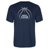 Performance Navy Tee-Basketball Abstract Ball