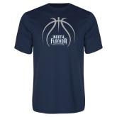 Syntrel Performance Navy Tee-Basketball Abstract Ball