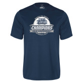 Performance Navy Tee-2017 ASUN Conference Womens Golf Champions Back To Back