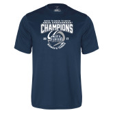 Performance Navy Tee-2017 ASUN Conference Womens Tennis Champions Back To Back