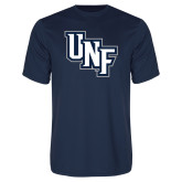 Performance Navy Tee-Diagonal UNF Monogram