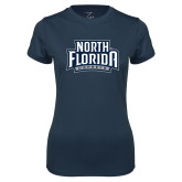 Ladies Syntrel Performance Navy Tee-North Florida Ospreys