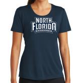 Ladies Syntrel Performance Navy Tee-North Florida Ospreys