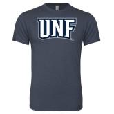 Next Level Vintage Navy Tri Blend Crew-UNF Monogram