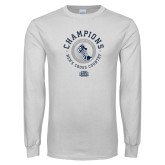 White Long Sleeve T Shirt-2018 ASUN Mens Cross Country Champions