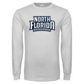 White Long Sleeve T Shirt-North Florida Ospreys