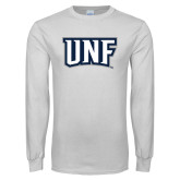 White Long Sleeve T Shirt-UNF Monogram