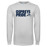 White Long Sleeve T Shirt-Ospreys Pride
