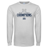 White Long Sleeve T Shirt-2018 Mens Tennis Champions