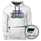 Contemporary Sofspun White Hoodie-North Florida Ospreys