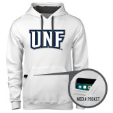 Contemporary Sofspun White Hoodie-UNF Monogram