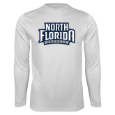 Performance White Longsleeve Shirt-North Florida Ospreys