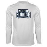 Syntrel Performance White Longsleeve Shirt-North Florida Ospreys