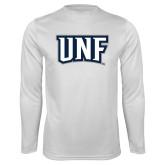 Performance White Longsleeve Shirt-UNF Monogram