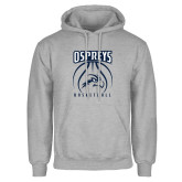 Grey Fleece Hoodie-Basketball Stacked