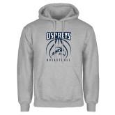 Grey Fleece Hoodie-Basketball Stacked
