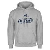 Grey Fleece Hoodie-Volleyball Can You Dig It