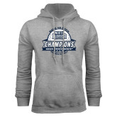 Grey Fleece Hoodie-2017 ASUN Conference Womens Golf Champions Back To Back