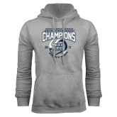 Grey Fleece Hoodie-2017 ASUN Conference Womens Tennis Champions Back To Back