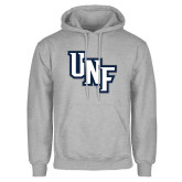 Grey Fleece Hoodie-Diagonal UNF Monogram