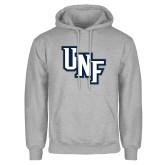 Grey Fleece Hoodie-Diagonal UNF Monogram